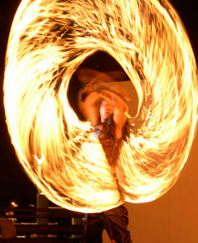 fire juggler glasgow